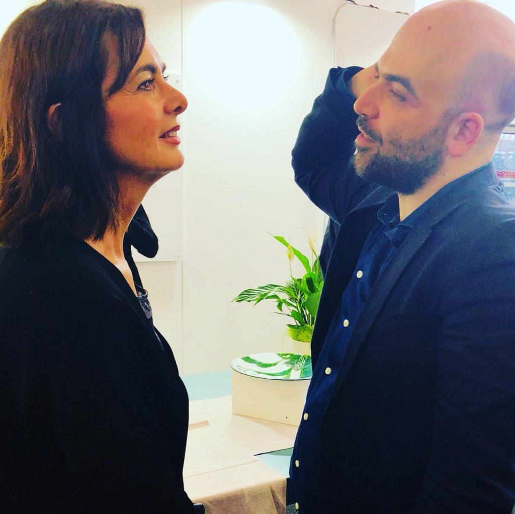 Risultato immagini per Saviano e Laura Boldrini immagini