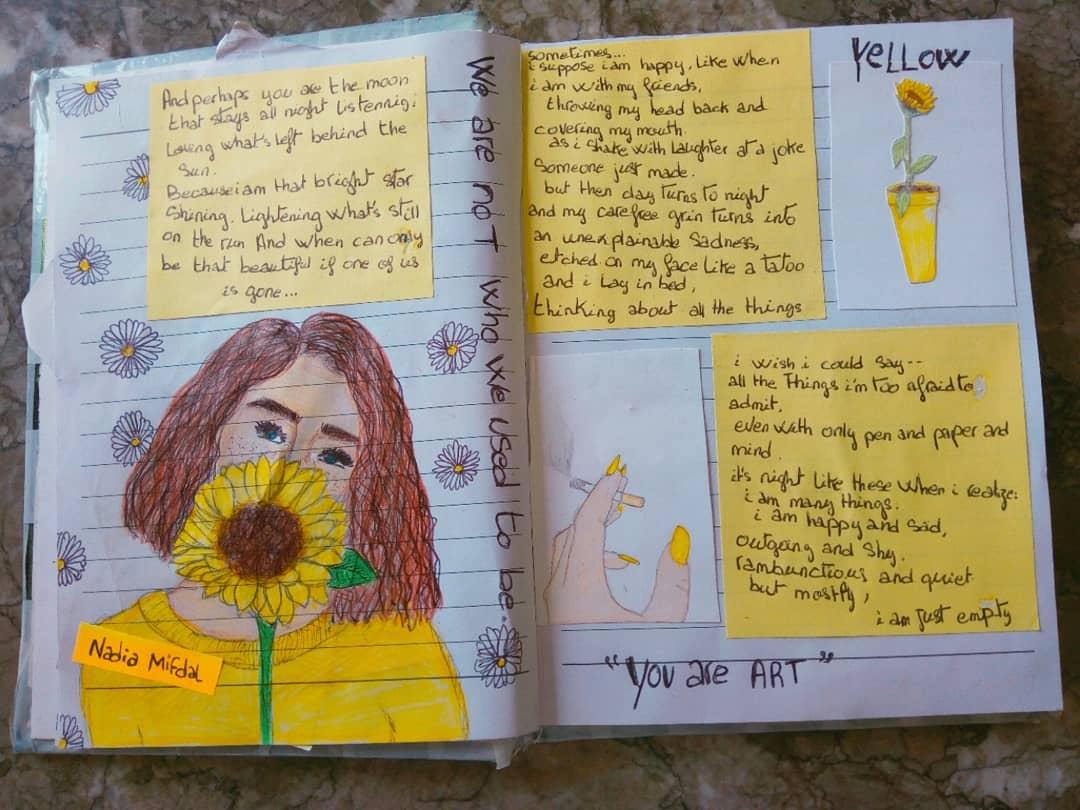 Nadia On Twitter Drawing Art Yellow Aesthetic Flowers Quotes