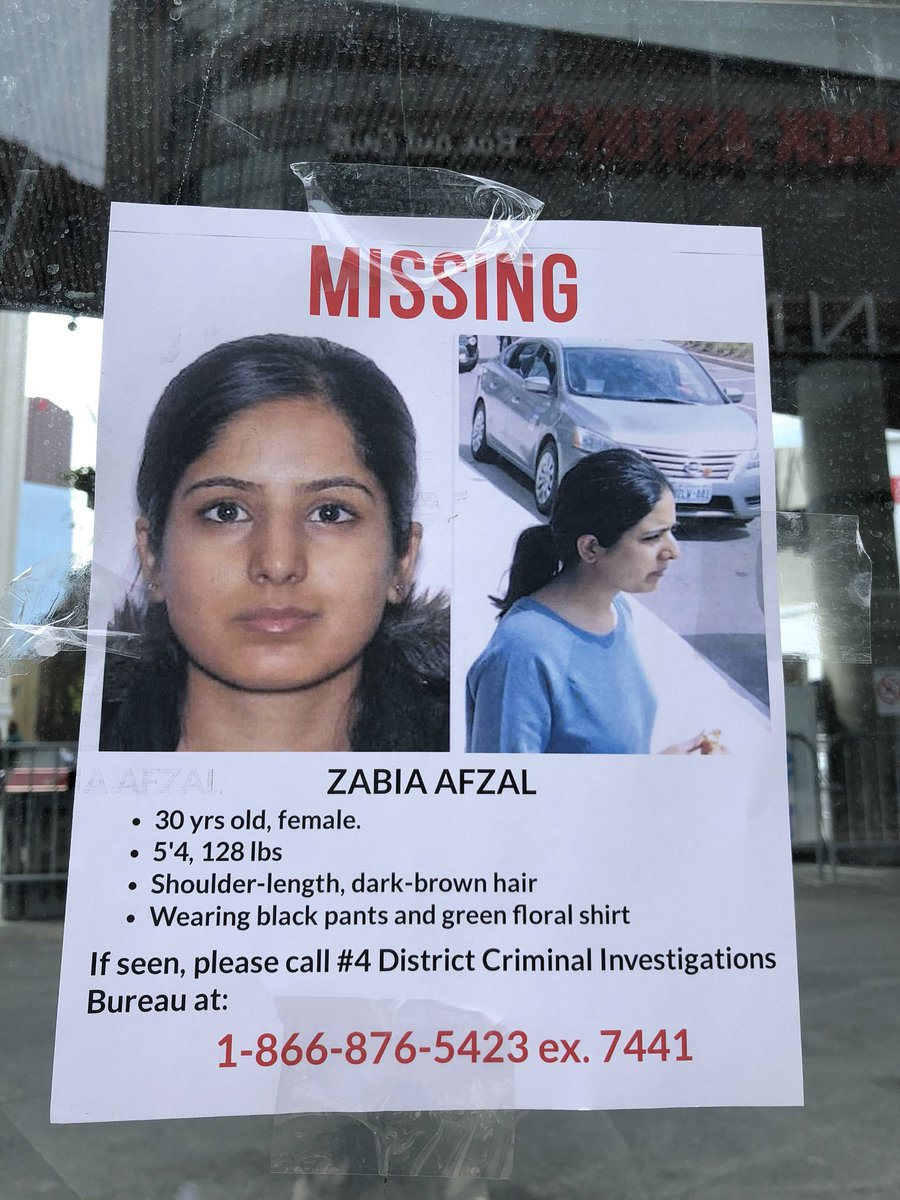 My friend Zabia Afzal is missing. Last seen on May 10th. Please share widely! Thank you #FindZabia #toronto #MissingPerson