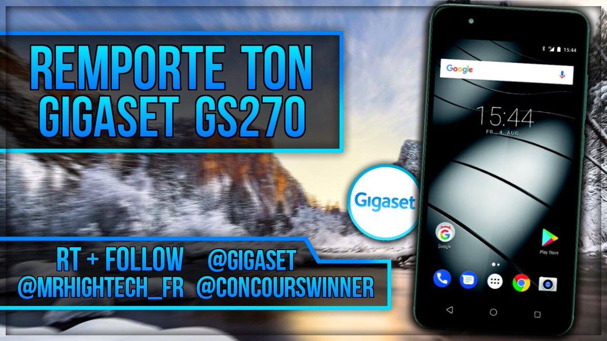 #Concours #Hightech   Gagne ton Smartphone GIGASET GS270    Suivre @Gigaset, @MrHighTech_fr et @ConcoursWinner    #RT le post     Mentionne un(e) ami(e)   N&#39;oublie pas d&#39;activer les notifications   Tirage le 26 mai 2018 <br>http://pic.twitter.com/6HBbP2Kv2g
