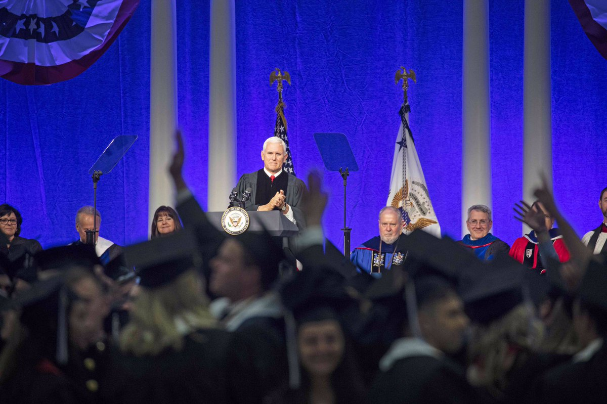 Congratulations to the @Hillsdale College Class of 2018! It was a pleasure to join you all on such an important and special day. And thank you, @Hillsdale College for the Honorary Doctor of Public Service degree. What a great day!
