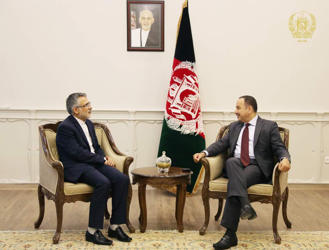 Today, I met with the Iranian Amb to Afghanistan, H.E. Mohammad Reza Bahrami and discussed bilateral cooperation between the two countries.