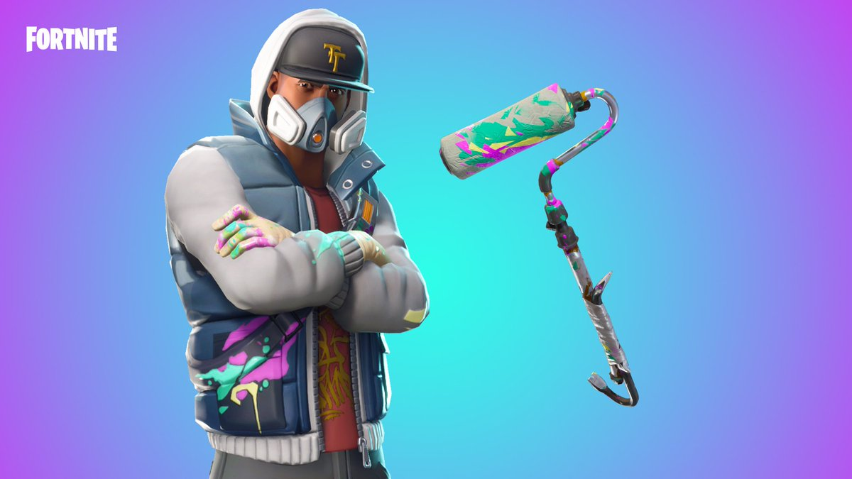 Roll out in style! The new Abstrakt Outfit and Renegade Roller Pickaxe are available now.