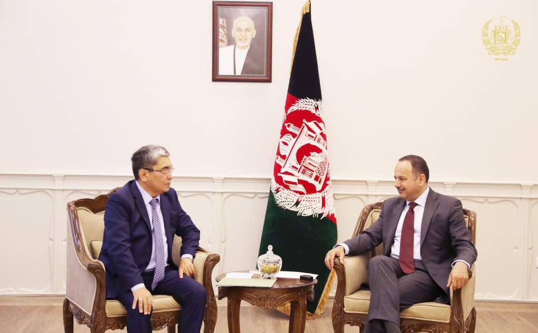 It was my pleasure to meet the newly appointed Amb of Kazakhstan to Afghanistan H.E. Alimkhan Yessengeldiyev, and talk on preparations for upcoming 10th JEC between the two countries.