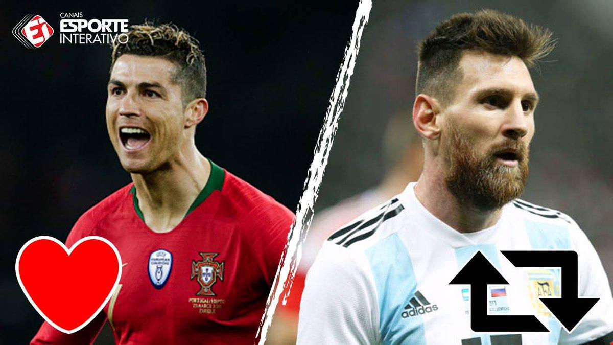 Quem vai brilhar na Copa? <3 = Cristiano Ronaldo RT = Messi