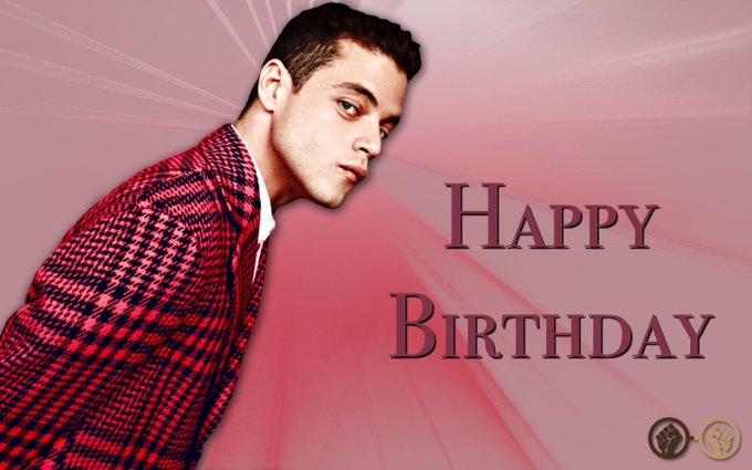 Wishing the incredibly talented Rami Malek a very happy birthday! The \Mr Robot\ star turns 37 today!