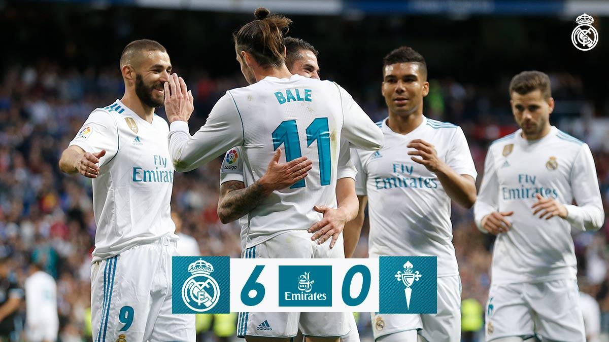 Chấm điểm kết quả Real Madrid 6-0 Celta Vigo