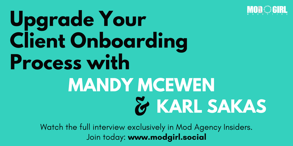 .@MandyModGirl & @KarlSakas shared tips on how to grow your #digitalagency by upgrading your #client onboarding process.  Join our FB group to watch the video now: https://t.co/4czsYzpdR5