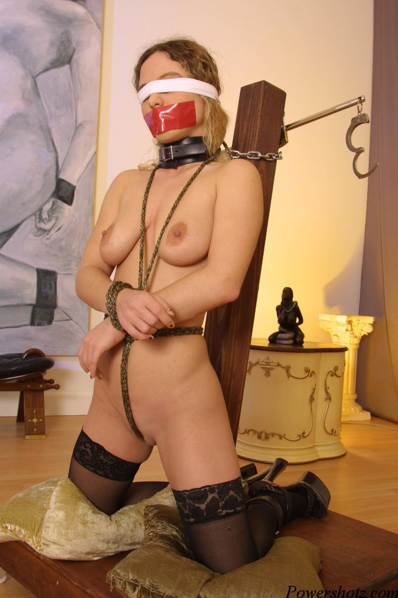 Watch gagged and blindfolded