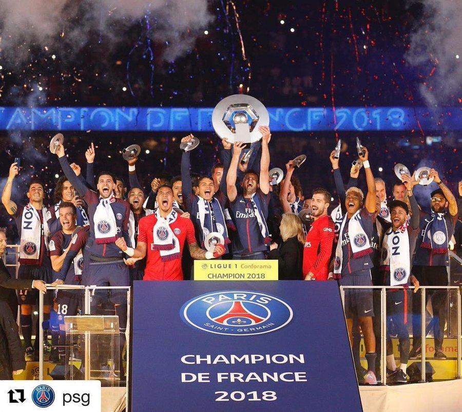 PSG after winning ligue 1