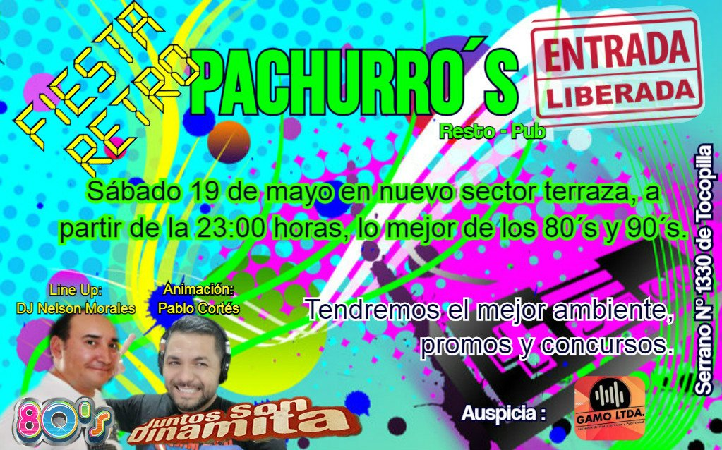 Tocopilla Online On Twitter Fiesta Ochentera En Pachurro S