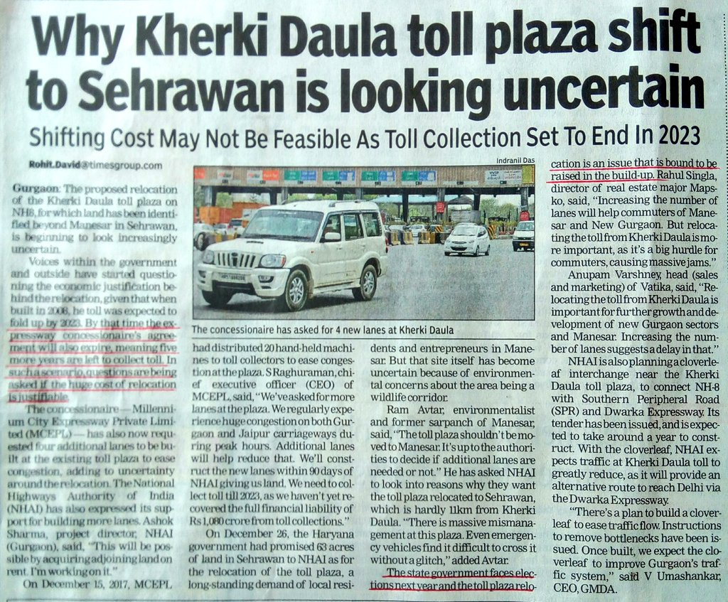 #AbwFraud #Shifting #KherkiDaulaToll was #never #Govt #intension it was #strategy 2 #divert #attention fm #public #demand 2 #remove it  #Netas hv #mislead #knowing #well #environmentalist &amp; #NGT #will #drag it2 #court #resulting in #delay 4a #decade #RERA #diluted 2 #loot #buyers<br>http://pic.twitter.com/LyvFUWJmS0