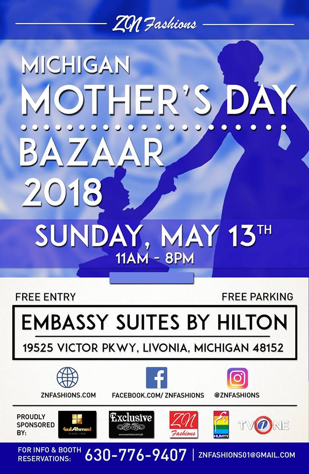 Zn Fashions Inc On Twitter Had A Wonderful Time In Cleveland Today Our Last Mother S Day Event Of The Season Is In Michigan Tomorrow Check Out The Flyer Below Detroit Livonia Michigan