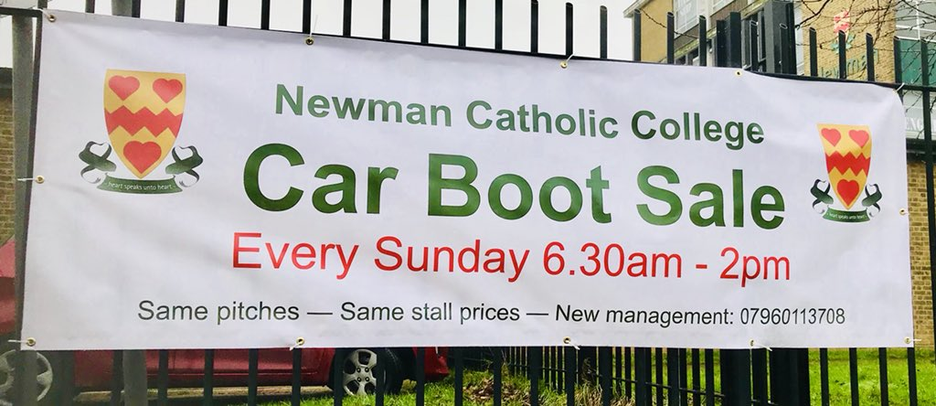 Newman Catholic Coll On Twitter Car Boot Sale On Now