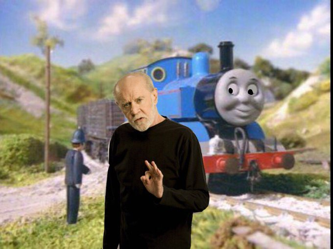 Happy birthday to both the railway series and George carlin
