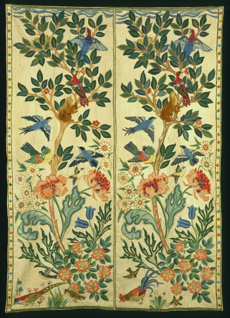 Womensart On Twitter Bed Hangings 1916 By May Morris English