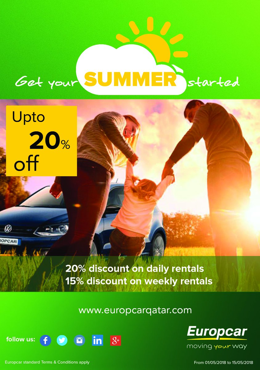 Europcar Qatar On Twitter Super Summer Offer Upto 20 Off For