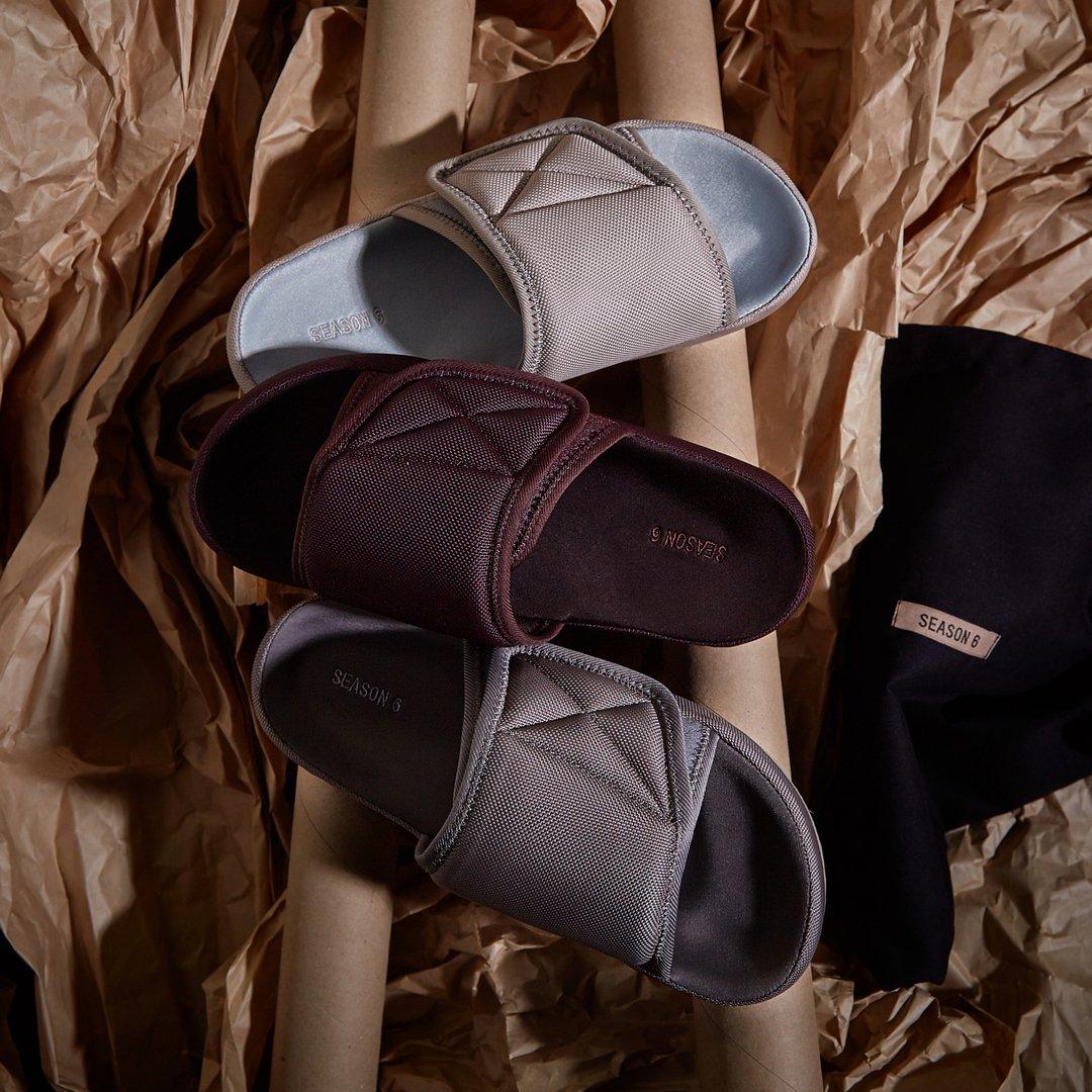 3348588ab8e Back in stock -- YEEZY Season 6 Nylon Slides (£119) --  http   end.global 39p pic.twitter.com pi1YRzccF4