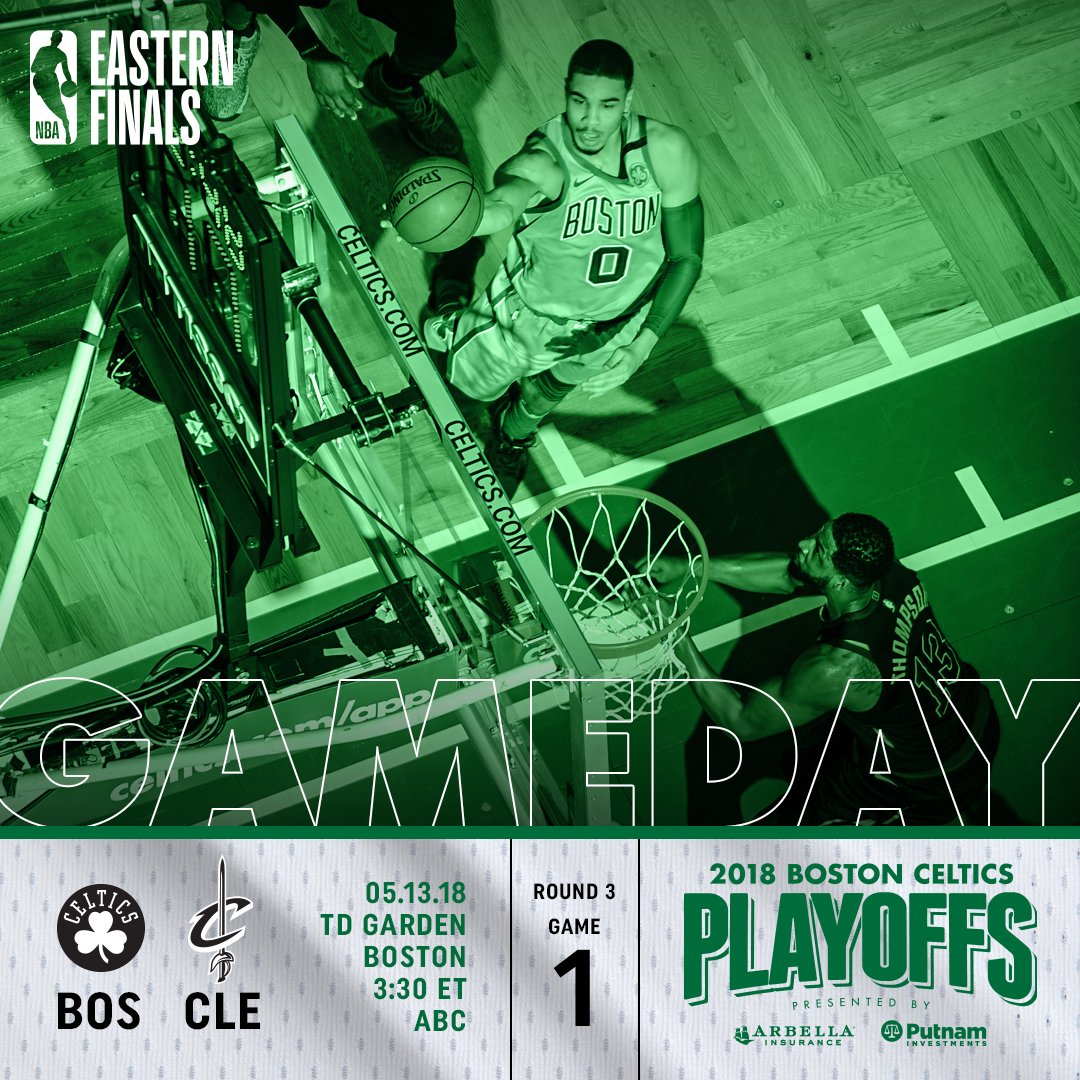 TODAY: GAME 1 ☘️⚔️ �� @tdgarden  ⏰ 3:30 p.m. �� https://t.co/B1lvM9HPcY  �� @ABCNetwork  �� @985TheSportsHub   #CUsRise https://t.co/NcR0FHOzdE