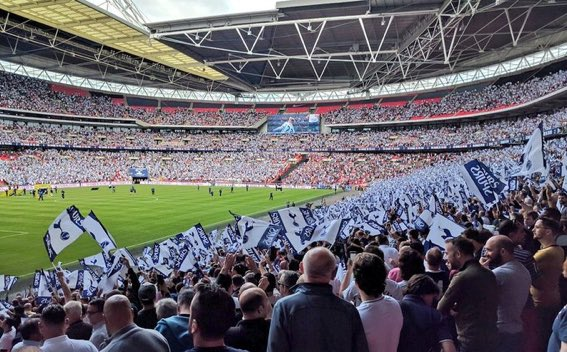 Wembley...you've been great at times but it's time we leave the red seats, distance from the pitch, unfamiliar area, larger than life concourse and returned home.   A big crowd today promises a good atmosphere. Let's get third #COYS #THFC