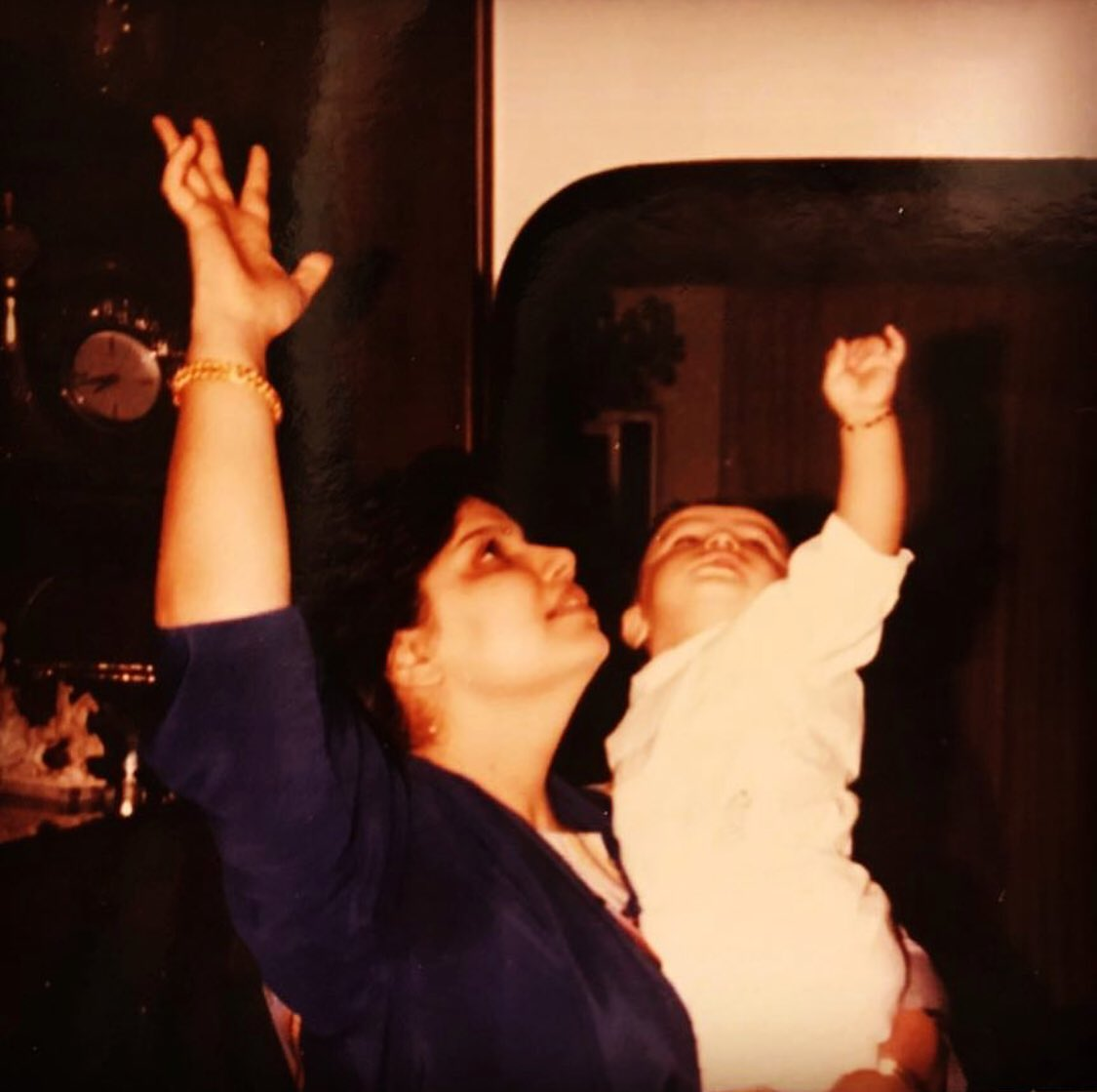 You made me reach for the stars and now you watch over us as our shining star & guiding light love you Mom Happy Mother's Day from @anshulakapoor & me as u always used to say Rab Rakha for us u are our everything protect us & support us like u always have... big tight 🤗