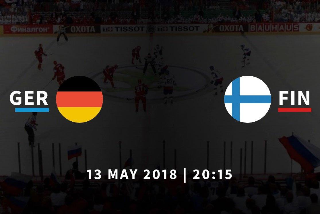 Ставки на матч Германия – Финляндия, Чемпионат мира по хоккею 2018