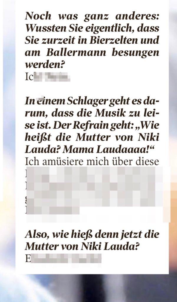 Lena Obschinsky On Twitter Die Highlight Fragen Im At Bildamsonntag