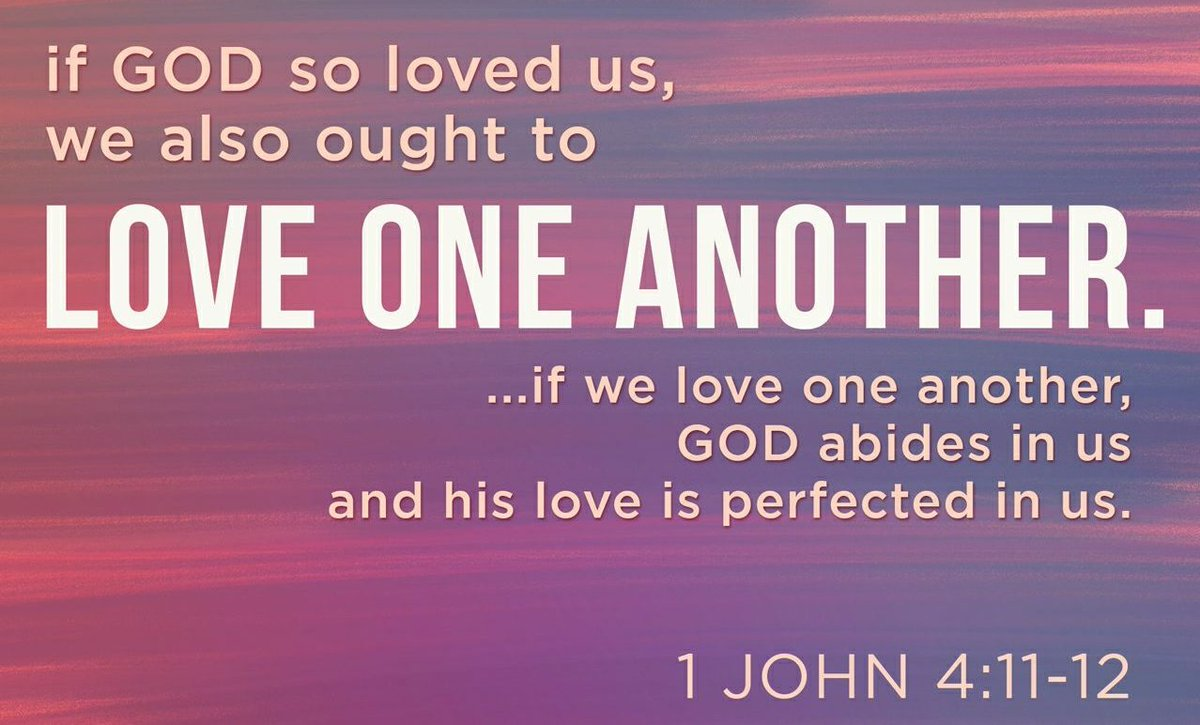 "Roni Buczynski on Twitter: ""#SundayMorning Beloved, if God so loved us, we  also must love one another. 1 John 4:11 NABRE https://t.co/BgUVfi2bo9…  https://t.co/7HE3x776px"""