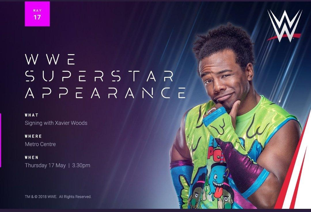 Only a few more days til you can meet @XavierWoodsPhD   Contact @BelongGateshead for more details.  #WWENewcastle #WWE