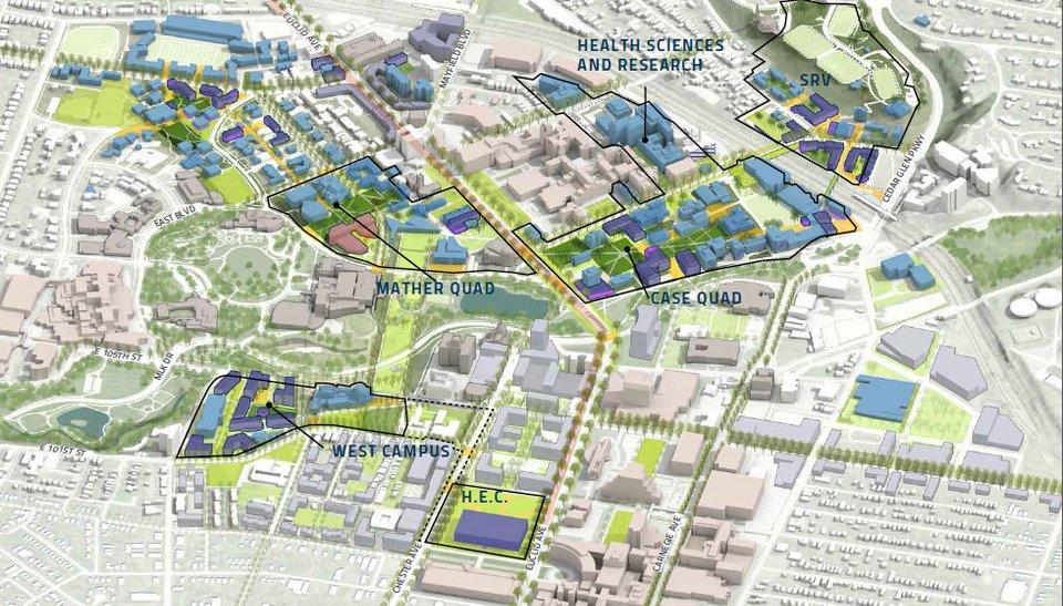 Steven Litt On Twitter New Cwru Master Plan Shows How Campus Can