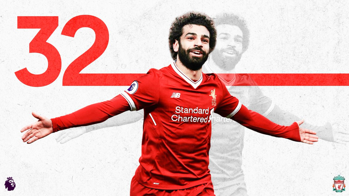 Amazing @MoSalah!   A new record for #PL goals in a 38-match season