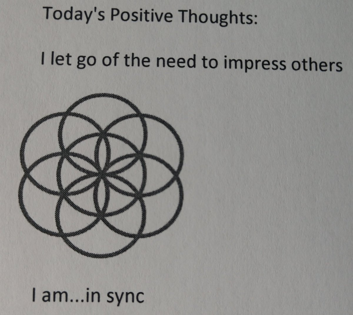 test Twitter Media - Today's Positive Thoughts: I let go of the need to impress others and I am...in sync. #affirmation https://t.co/SxcDF6cHfb
