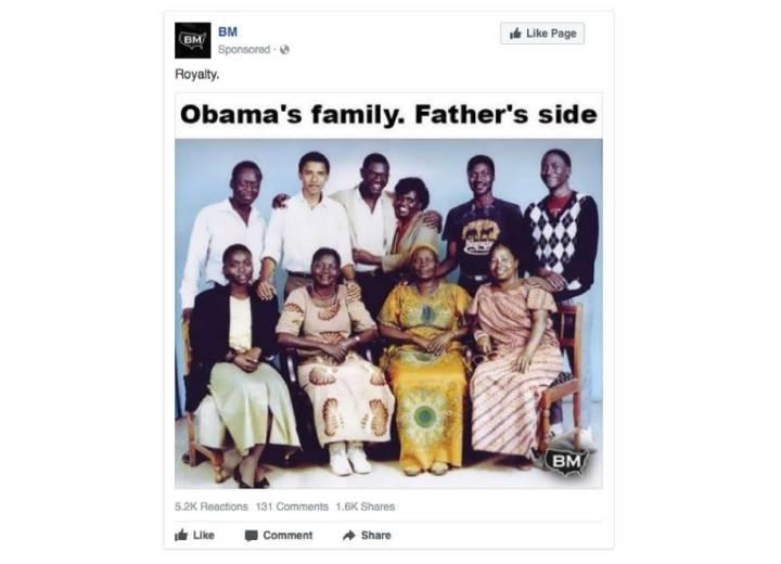 De Satã à 'família africana' de Obama: as 3.500 postagens do Facebook pagas pela Rússia (ou pelo menos por alguém na Rússia) https://t.co/ldpSS3Ru7P