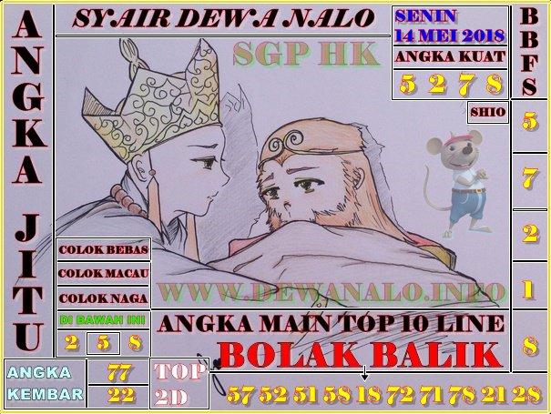 Syair Dewa Nalo Senin 14-05-2018