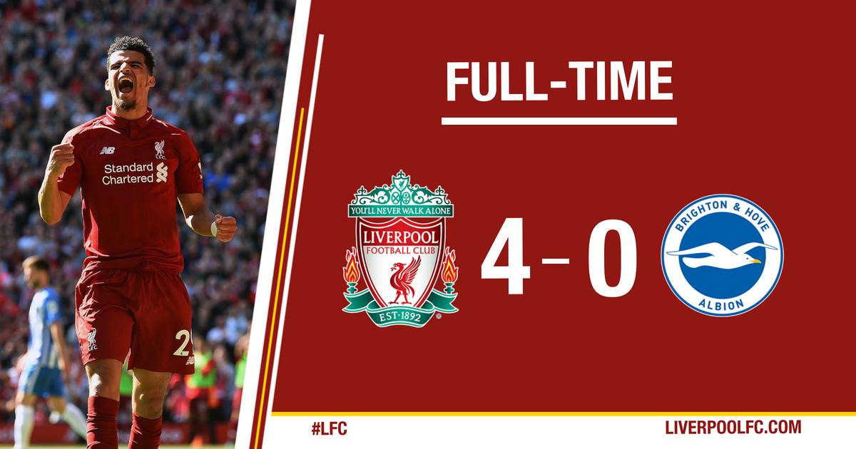 Chấm điểm kết quả Liverpool 4-0 Brighton