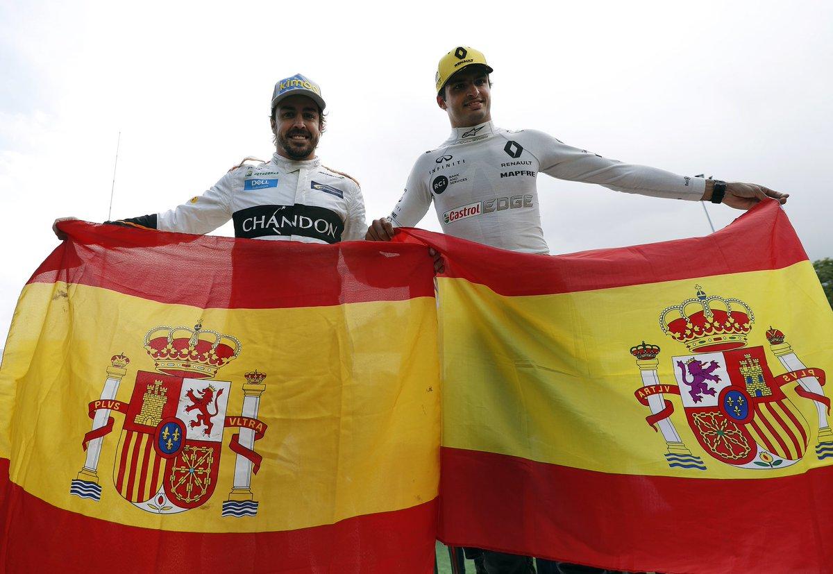 Fernando Alonso, segundo mejor piloto del momento según la Fórmula 1 y Carlos Sainz sexto