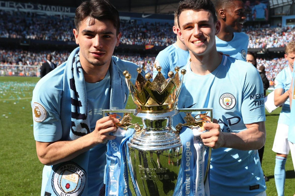 """PepTeam on Twitter: """"🎙It is an English rule that they cannot be Champions  if they haven't played five games. Now @Brahim and @PhilFoden are  Champions. They deserved the medal. En Inglaterra no"""