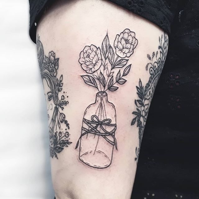 Flowers In A Vase Tattoo Flowers Healthy