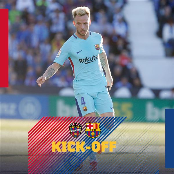 ⏰ The game is under way in the Ciutat de Valencia stadium! �� let's go, Barça!  ⚽ #LevanteBarça ���� #ForçaBarça https://t.co/us711jxBrO