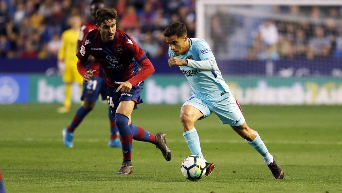 Chấm điểm kết quả Levante 5-4 Barcelona