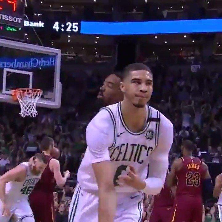 .@jaytatum0 gave JR Smith a taste of his own medicine... ��  #NBAPlayoffs | #CUsRise https://t.co/WuNiAXwcSw