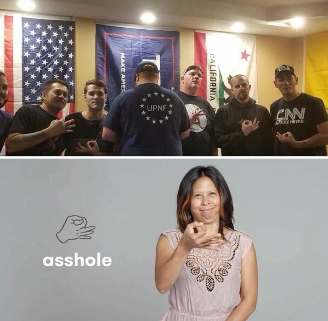 Asshole in sign language