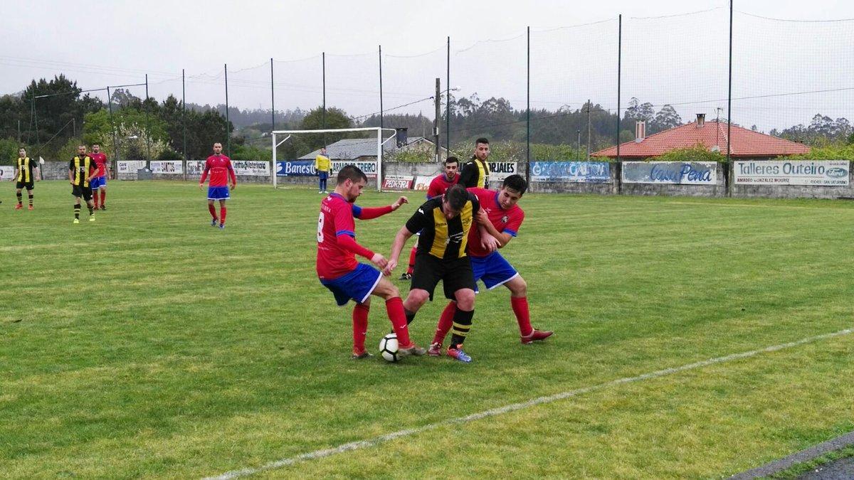 ADR Numancia de Ares. Afcionados 2017-2018. Copa delegación de Ferrol. Moeche, 4 - Numancia, 5
