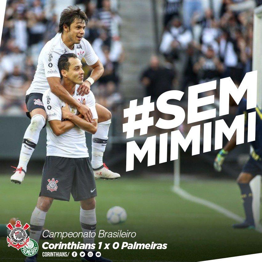 #SemMiMiMi Com interferência interna de Pedrinho e gol de Rodriguinho, Timão bate Palmeiras pelo Brasileirão na .   #VaiCorinthians