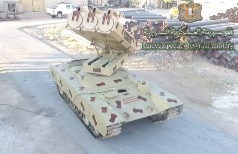 سوريا تميط اللثام عن راجمه Golan 1000  DdGziP0XkAAjFXu