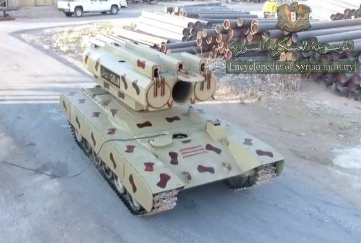 سوريا تميط اللثام عن راجمه Golan 1000  DdGziPkW0AE-Q7c