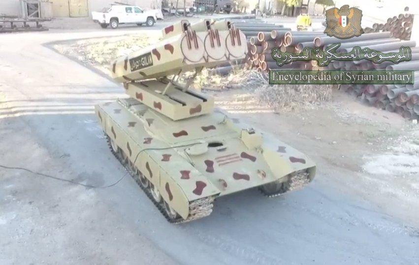 سوريا تميط اللثام عن راجمه Golan 1000  DdGziPoW0AAMc_Q