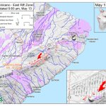 Image for the Tweet beginning: New #USGS #HVO fissure map,