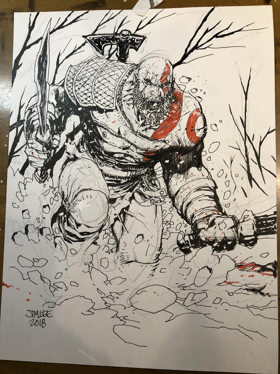 Kratos God War Korea Japan Kratos God War Game Sketch