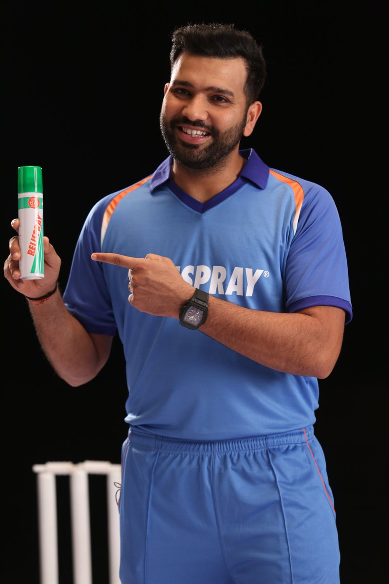 It's time to reveal the secret we have been keeping about #Relispray New Brand Ambassador. Presenting the #HITMAN of the #Indiancricket team #ROHITSHARMA as our new Brand Ambassador for #Relispray & #Relispraynitron #No1PainReliefSpray #NoPainNoGain #SprayPainAway